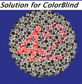 solution fo colorblind